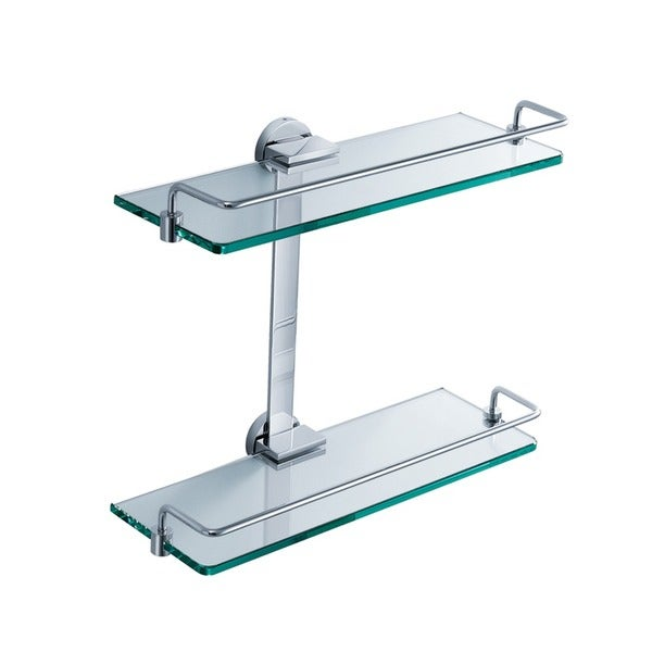 Fresca 2 Tier Bathroom Glass Shelf - Chrome