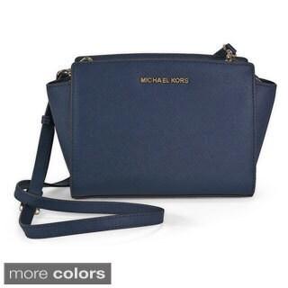 MICHAEL Michael Kors Selma Saffiano Leather Medium Messenger Bag
