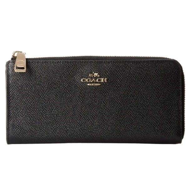 Coach Emboss Leather L-Zippy Wallet