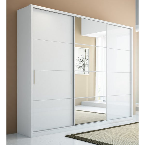 Manhattan Comfort Bellevue 5-drawer, 3-door Wardrobe