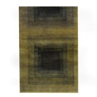 Herat Oriental Indo Hand-knotted Tribal Tibetan Beige/ Brown Wool Rug (2'8 x 4')