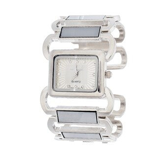 Xtreme Via Nova Women's Bangle Cuff Silvertone Watch