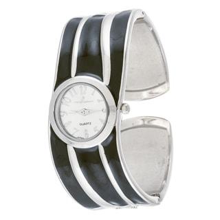Xtreme Via Nova Women's Stainless Steel Black Strip Bangle Watch