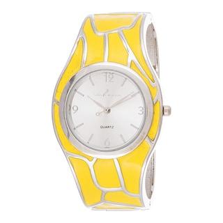 Xtreme Via Nova Women's Stainless Steel Yellow Bangle Watch