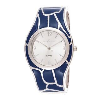 Xtreme Via Nova Women's Stainless Steel Blue Bangle Watch