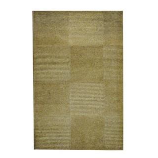 Herat Oriental Indo Hand-knotted Tribal Tibetan Beige/ Gray Wool Rug (2'7 x 4')