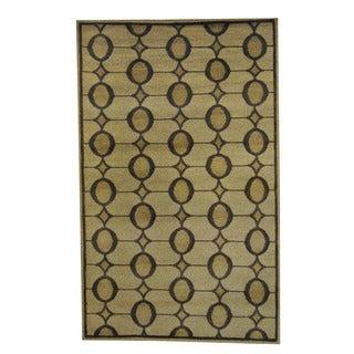 Herat Oriental Indo Hand-knotted Tribal Tibetan Beige/ Brown Wool Rug (5' x 8')