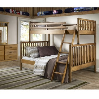 Timber Creek Twin Over Full Size Log Bunk Bed