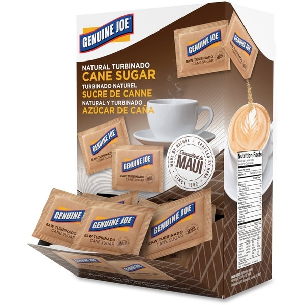 Genuine Joe Turbinado Cane Sugar Packets (Pack of 200)
