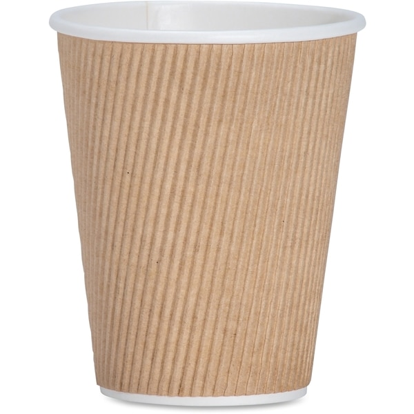 Genuine Joe 12 oz. Ripple Hot Cups (Pack of 25)