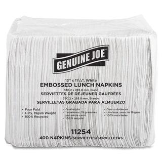 Genuine Joe White Lunch Napkins (Pack of 2400)