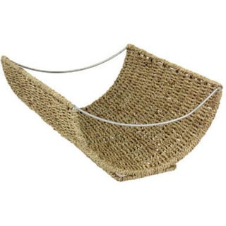 Household Essentials Scoop Wicker Magazine Rack