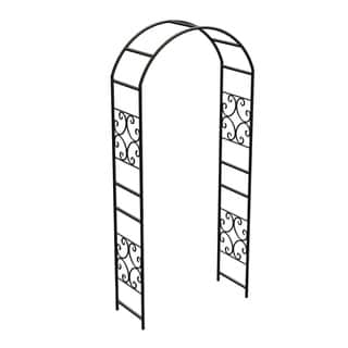 "90"" Scroll Arbor wout Gate Blk"