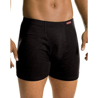 Hanes Men's Tagless No Ride Up Boxer Briefs with Comfort Soft Waistband Prints and Solids (Pack of 5)