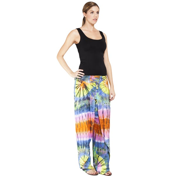 Rainbow Tie-Dye Wrap Casual Pants (Indonesia)