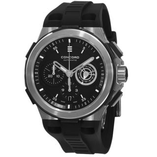 Concord Men's 0320188 'C2' Black Dial Black Rubber Strap Chronograph Swiss Automatic Watch