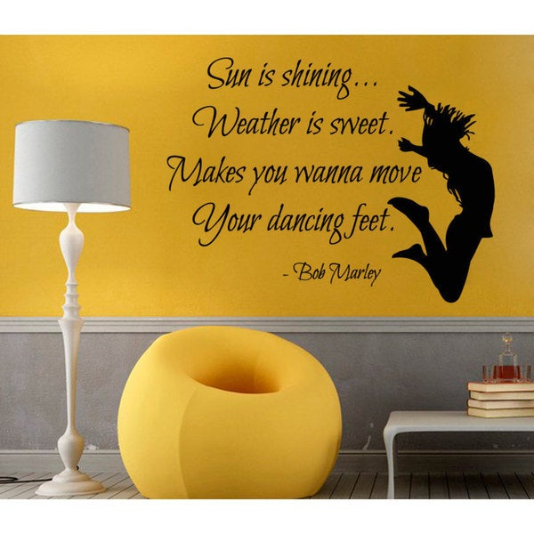 Bob Marley Quote Sticker Vinyl Wall Art