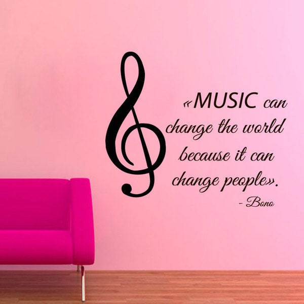 Music Quote by Bono U2 Sticker Vinyl Wall Art