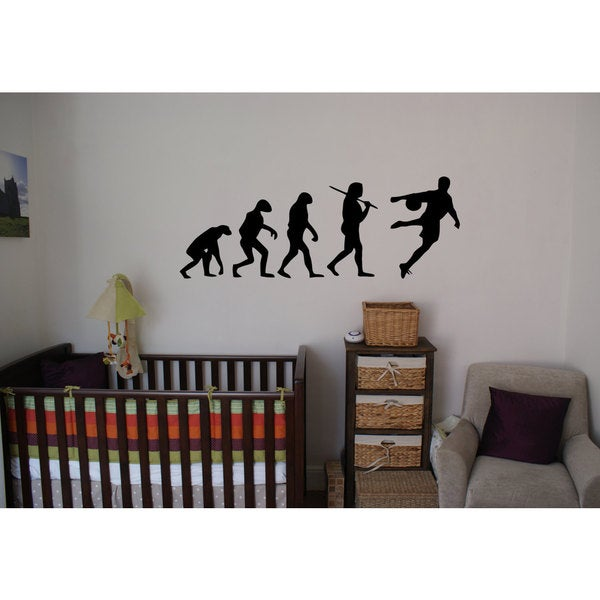 Soccer Football Evolution Sticker Vinyl Wall Art