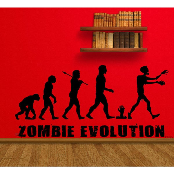 Zombie Undead Horror Evolution Sticker Vinyl Wall Art