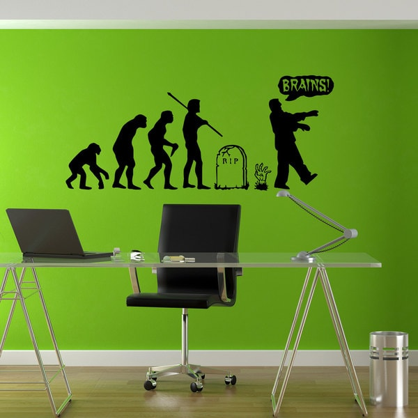 Zombie Undead Horror Evolution Sticker Vinyl Wall Art