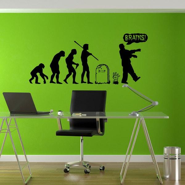 Zombie Undead Horror Evolution Sticker Vinyl Wall Art 15131090