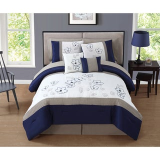 Journee Collection Castile 10-piece Embroidered Comforter Set