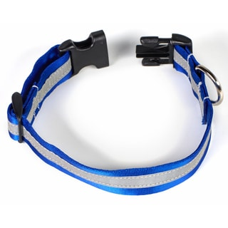 Petflect Royal Blue/ Silver Reflective AdventurePlay Collar