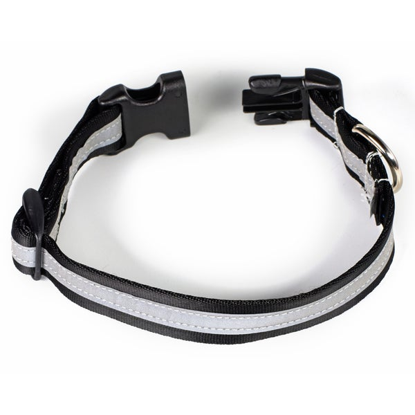Petflect Black/Silver Reflective AdventurePlay Collar