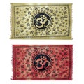 Om in My Soul Yoga Cotton Tapestry (India)