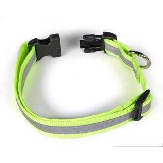 Petflect Fluorescent Yellow/ Silver Reflective AdventurePlay Collar