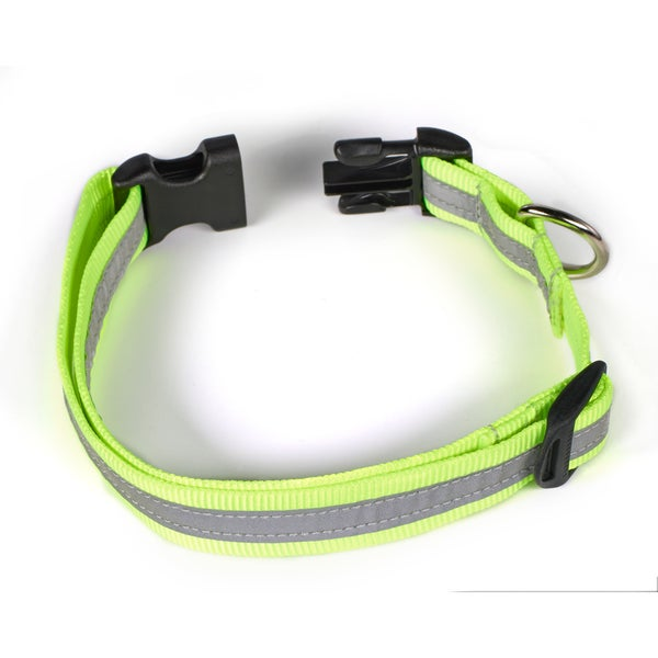 Petflect Fluorescent Yellow/ Silver Reflective AdventurePlay Collar