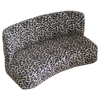 HomePop Leopard Print Pet Bed Couch