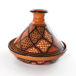 Le Souk Ceramique Honey Design 9-inch Cookable Tagine (Tunisia)