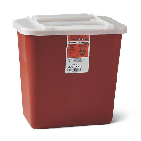 Medline Biohazard Multi-Purpose Sharps Containers, 2 Gallon (Pack of 20)