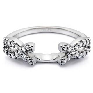 10k Gold 1/4ct TDW Diamond Infinity Wedding Ring Wrap Enhancer (G-H, I2-I3)