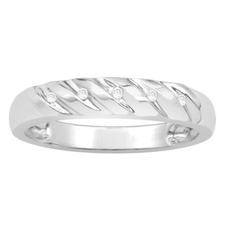 Sterling Silver 1/25 Diamond Accent Band
