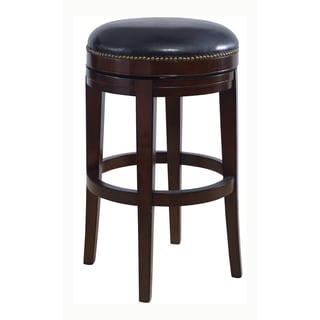 D-Art Sofia Backless Counter Stool with Real Leather