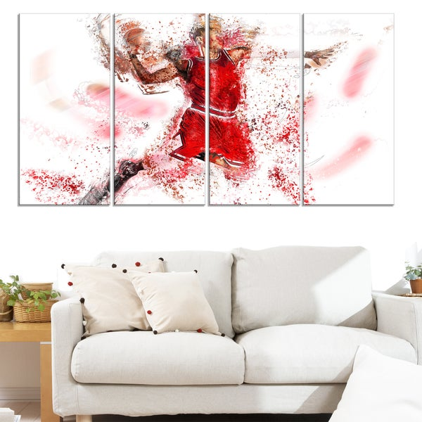 Design Art 'Basketball Slam Dunk' Canvas Art Print