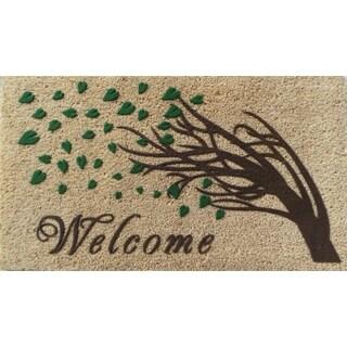 """Welcome Tree Flocked Doormat (18"""" x 30"""")"""
