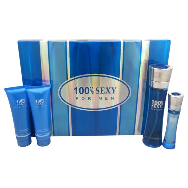 100% Sexy Lover Men's 4-piece Gift Set