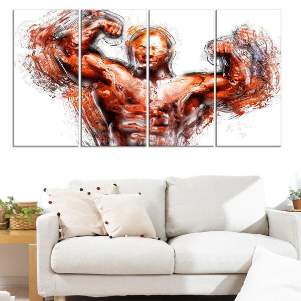 Design Art 'Body Building Lean Out' Canvas Art