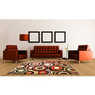 McKayla 1537 Red Area Rug (5' x 8')