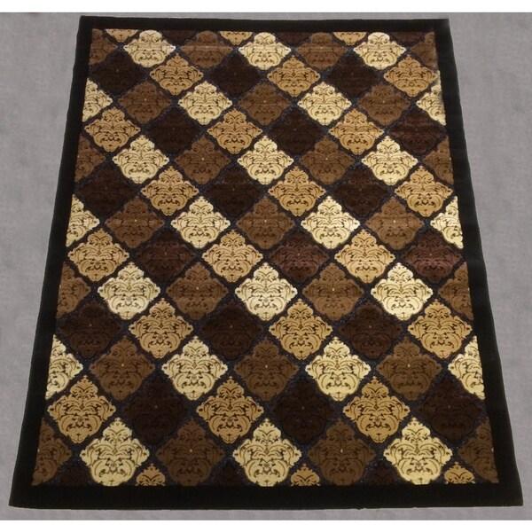 Hazel 181 Brown Area Rug (5' x 8')