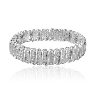 Silvertone 1ct TDW Diamond Tennis Bracelet (I-J, I2-I3)