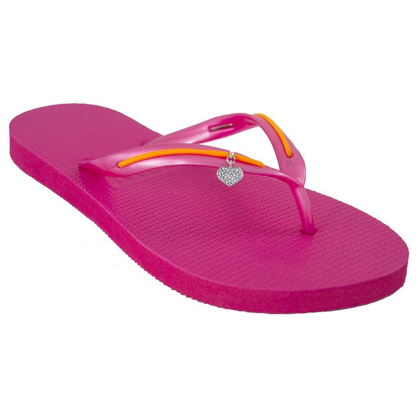 MADiL 'Sherbert' Pink/ Orange Personalized Flip Flops