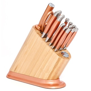 KitchenAid 14-piece Copper Aluminum Bamboo Cutlery Set