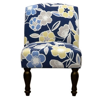 Trendsetter Blue Floral Accent Chair