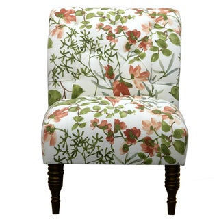 Gazebo Umber Green Ikat Tufted Accent Chair
