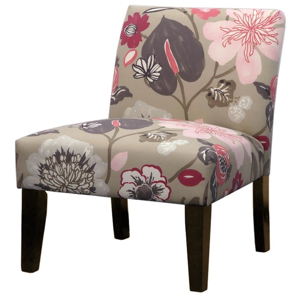 Gorgeous Blossom Pink Floral Slipper Chair